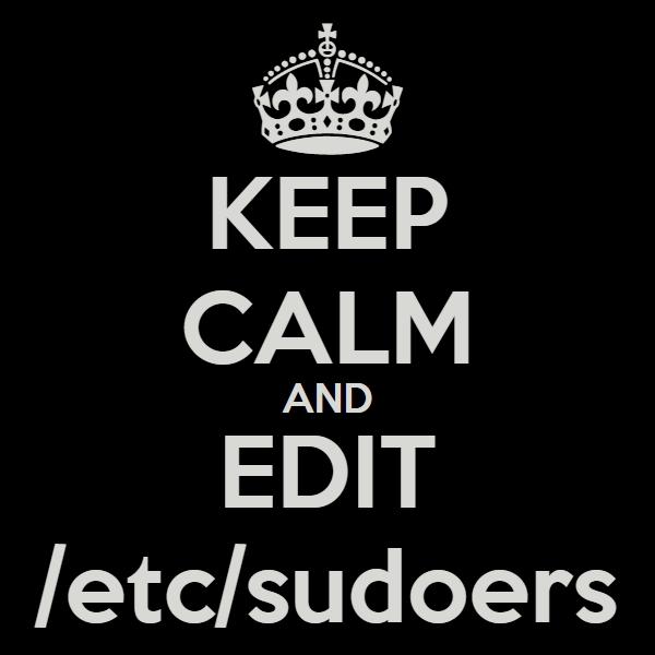 Стандартное содержимое /etc/sudoers